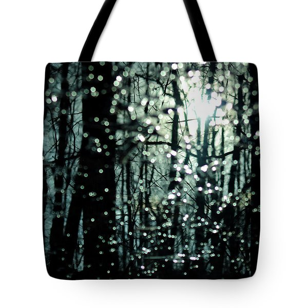 Blue Burns The Twilight Tote Bag by Rebecca Sherman