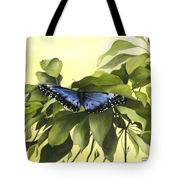 Blue Butterfly Of Branson Tote Bag