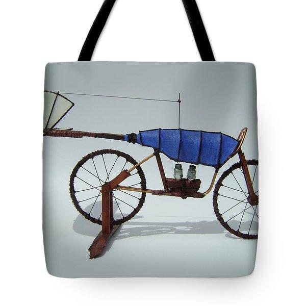 Blue Caravan Tote Bag by Jim Casey