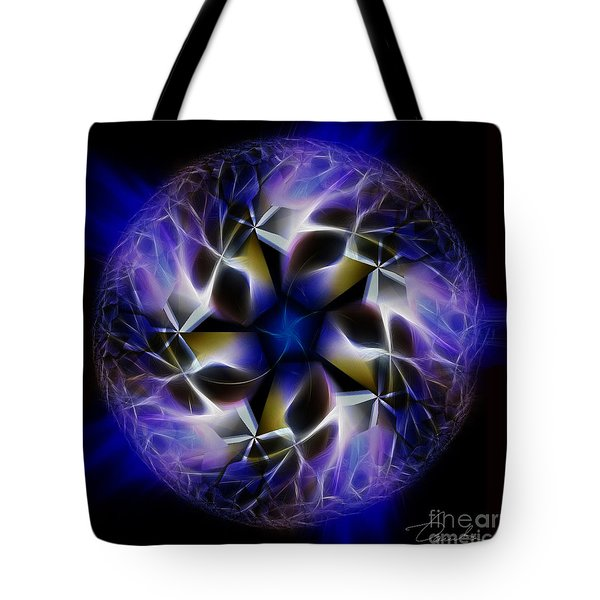 Blue Creation Tote Bag by Danuta Bennett