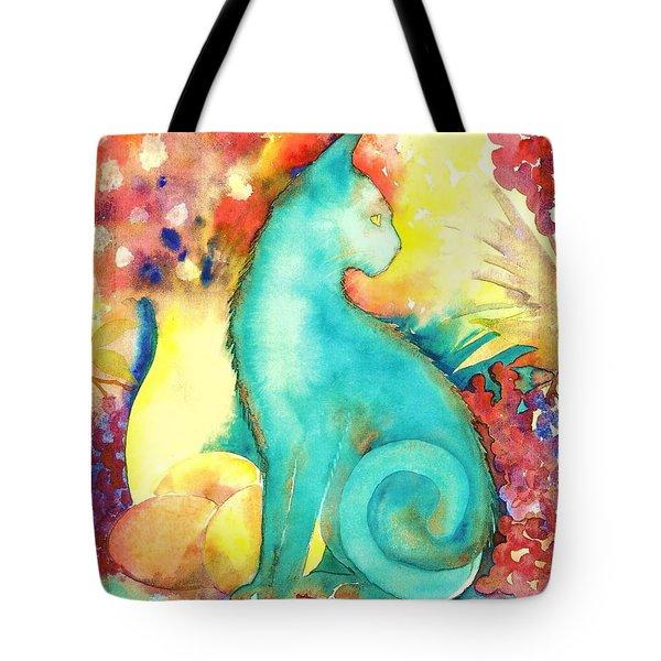 Blue Damsel Tote Bag