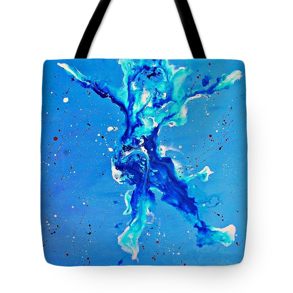Tote Bag featuring the painting Blue Dancer by Mary Kay Holladay