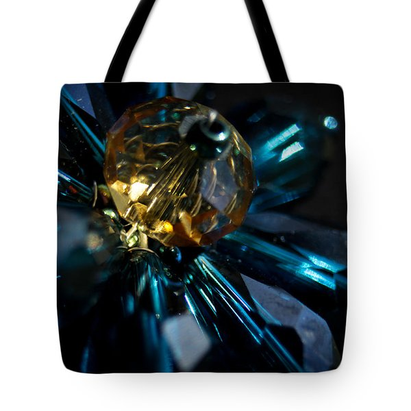 Blue Dazzle Tote Bag by Theresa Johnson