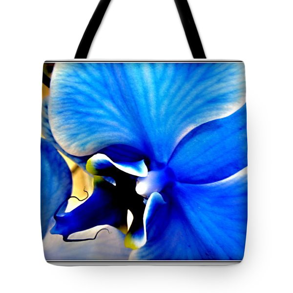 Blue  Diamond Orchidaceae Tote Bag