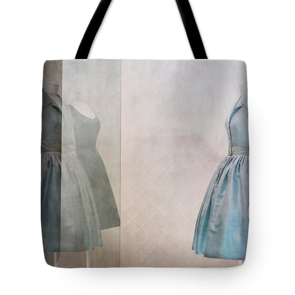 Blue Dress Tote Bag by Martine Roch