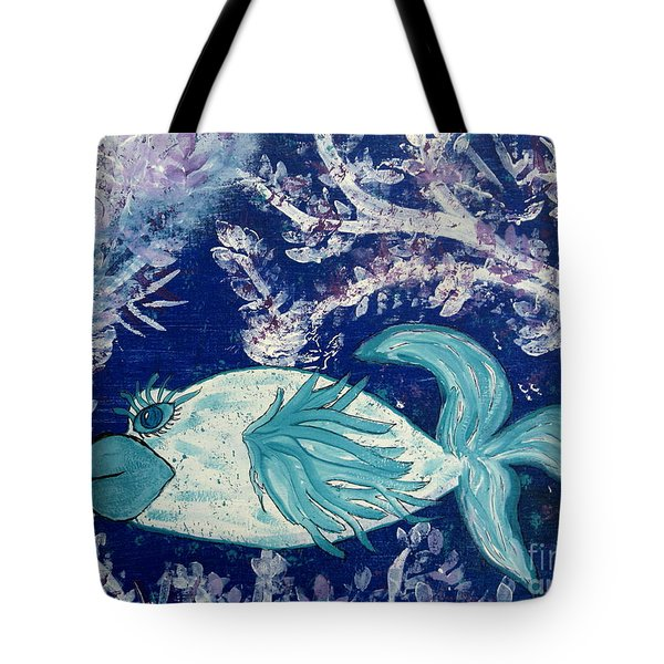 Blue Fish Called Flow Tote Bag