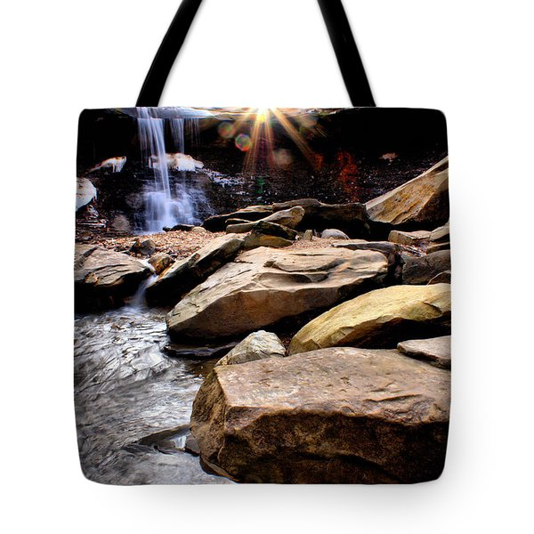 Tote Bag featuring the photograph Blue Hen Falls by Michelle Joseph-Long