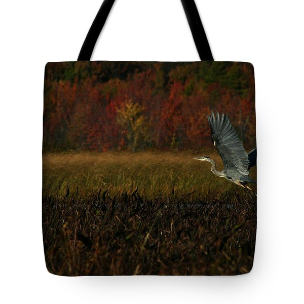 Blue Heron Mud Pond Dublin Tote Bag