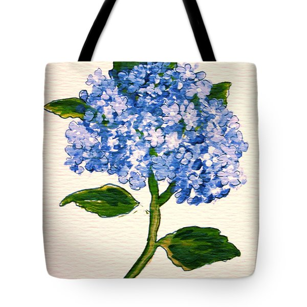 Blue Hydrangea Tote Bag by Leea Baltes