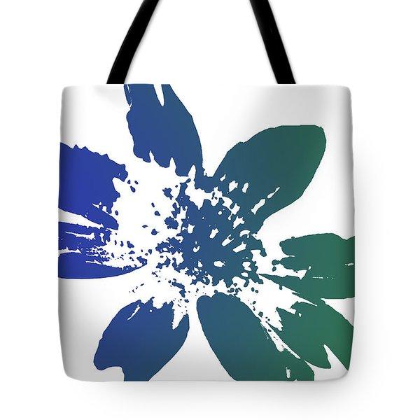 Blue In Bloom Tote Bag