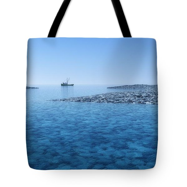 Tote Bag featuring the digital art Blue Infinity... by Tim Fillingim