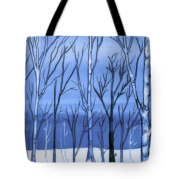 Blue Interlude Tote Bag