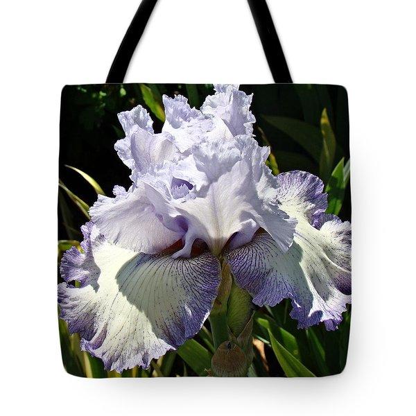 Blue Iris Tote Bag by Nick Kloepping