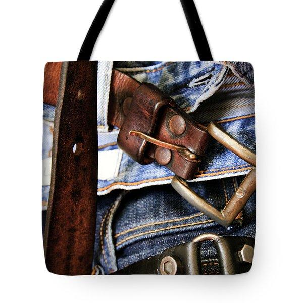 Blue Jeans Tote Bag by Stelios Kleanthous