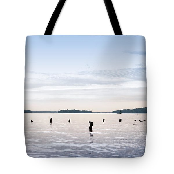 Tote Bag featuring the photograph Blue Lake Muskoka by Les Palenik
