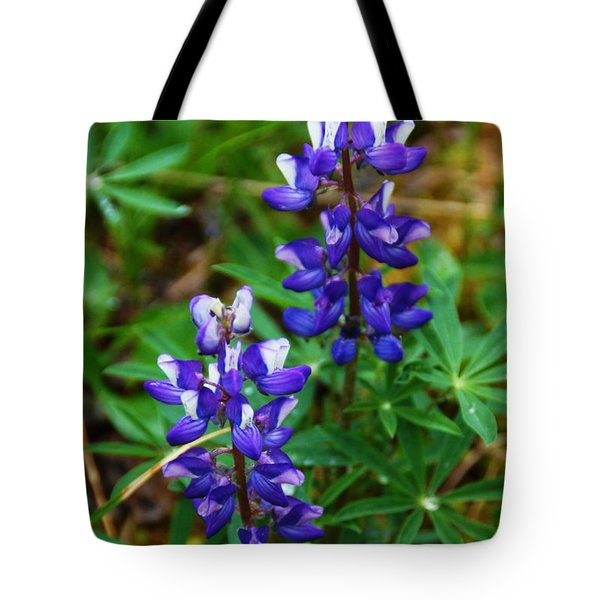 Blue Lupine Tote Bag