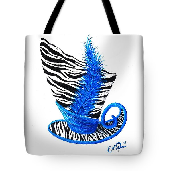 Blue Magic Hat Tote Bag by Oddball Art Co by Lizzy Love