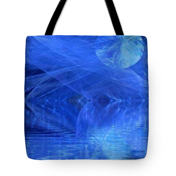 Blue Moon Healing In Blue Tote Bag
