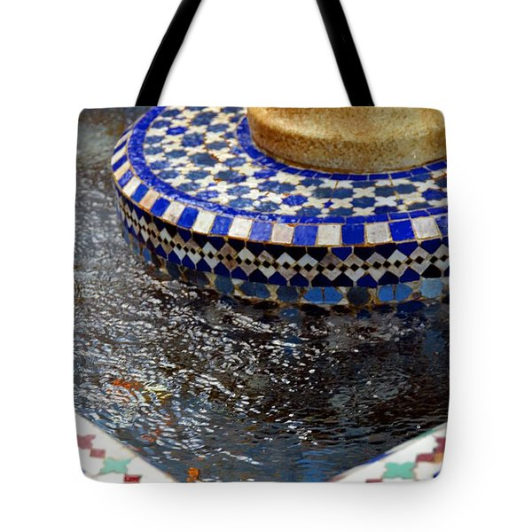 Blue Mosaic Fountain II Tote Bag