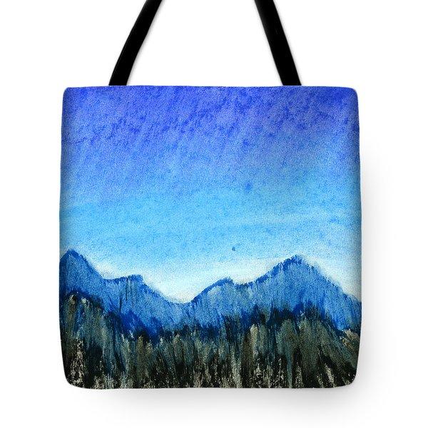 Blue Mountains Tote Bag by Hakon Soreide