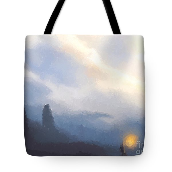 Blue Mountains  Tote Bag by Pixel  Chimp