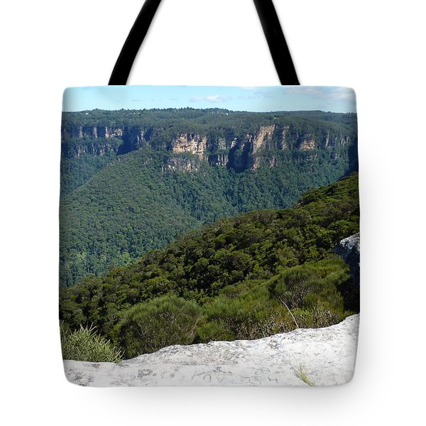 Blue Mountains Tote Bag by Carla Parris