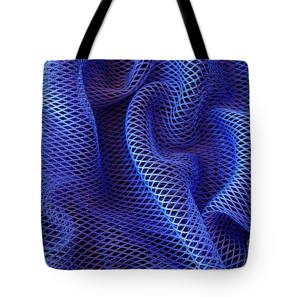 Blue Net Background Tote Bag by Carlos Caetano