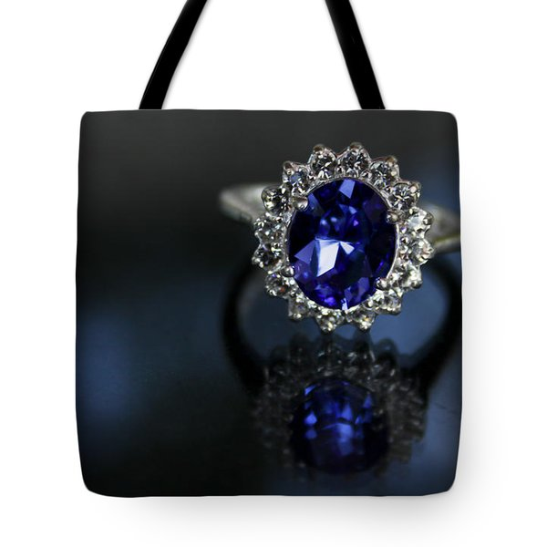 Blue On Bling Tote Bag by Theresa Johnson