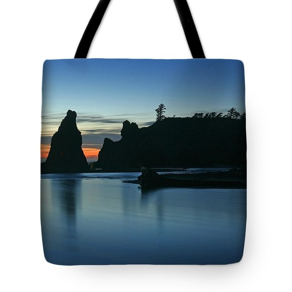 Blue On Blue Tote Bag by Winston Rockwell