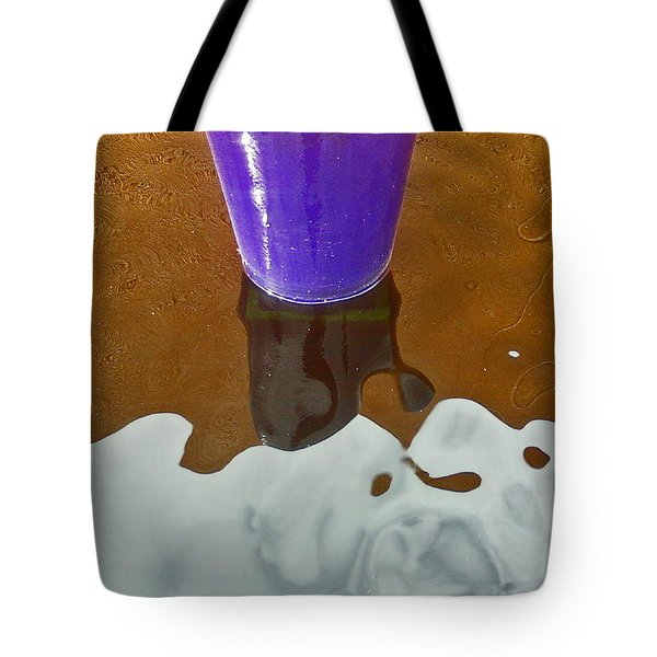 Tote Bag featuring the photograph Blue Planter by David Pantuso
