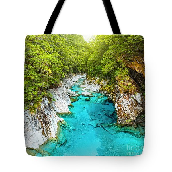 Blue Pools Tote Bag by MotHaiBaPhoto Prints
