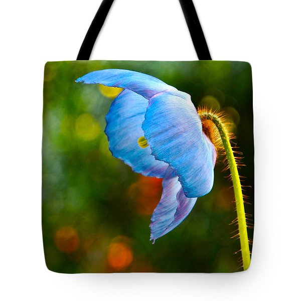 Blue Poppy Dreams Tote Bag by Byron Varvarigos