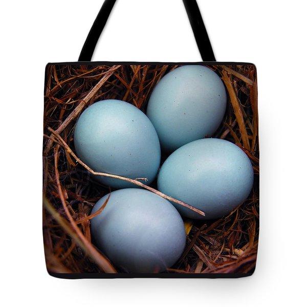 Blue Promises Tote Bag