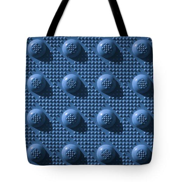Blue Repeat Knob Pattern Tote Bag
