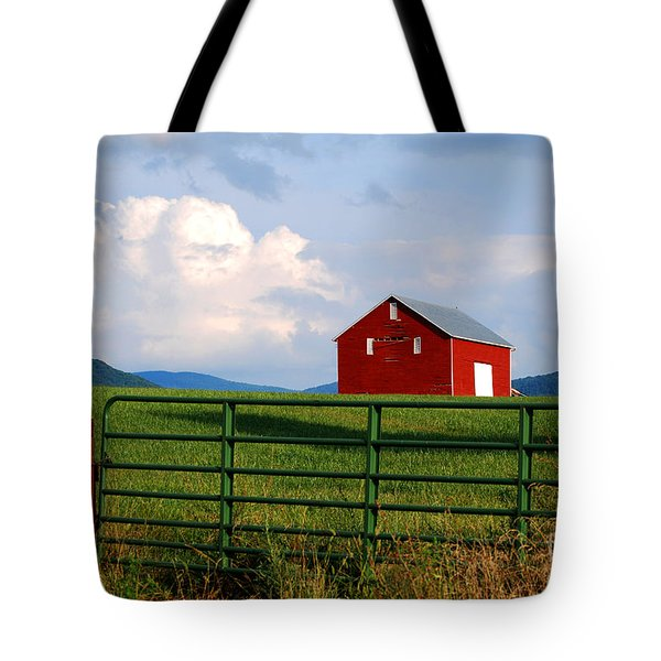 Blue Ridge Barn Tote Bag