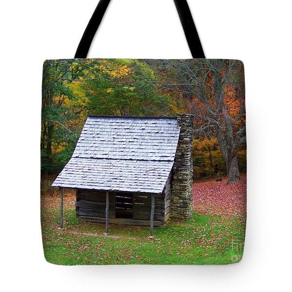 Blue Ridge Cabin Tote Bag