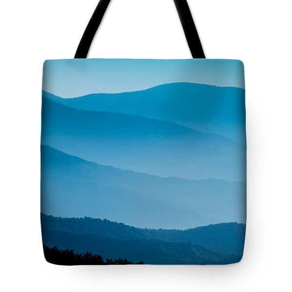 Blue Ridges Panoramic Tote Bag