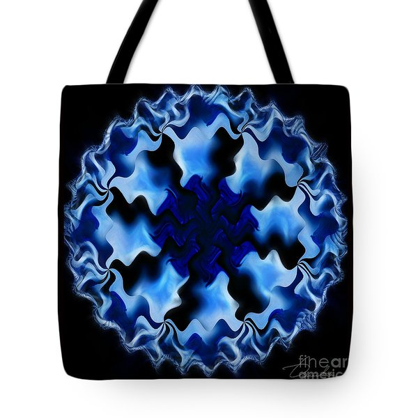 Blue Ripple Tote Bag by Danuta Bennett