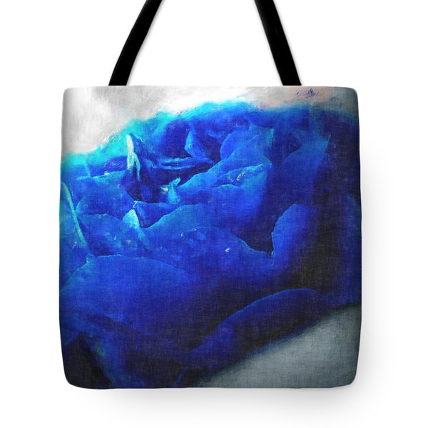 Tote Bag featuring the digital art Blue Rose by Debbie Portwood