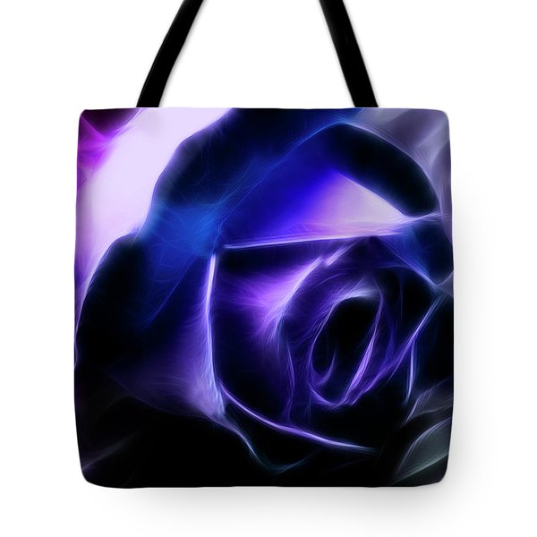 Tote Bag featuring the photograph Blue Rose by Joan Bertucci