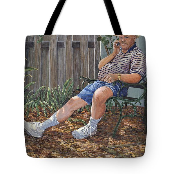Tote Bag featuring the painting Blue Royal by AnnaJo Vahle