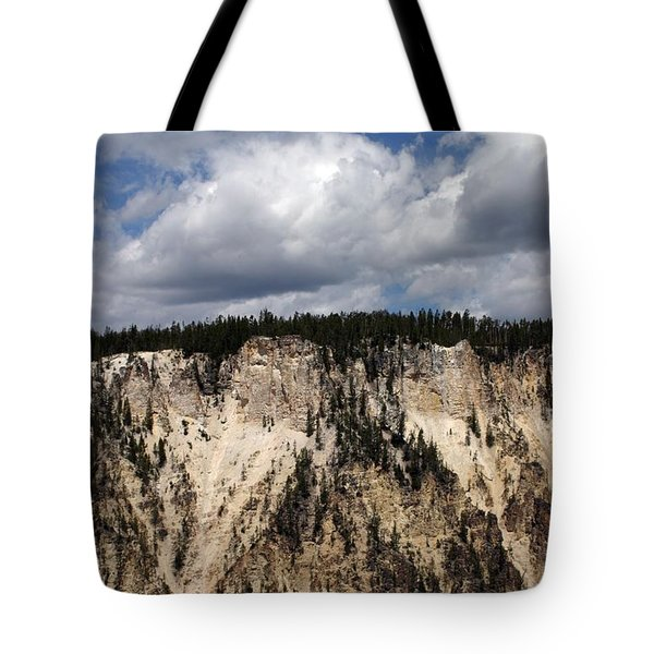 Blue Skies And Grand Canyon In Yellowstone Tote Bag by Living Color Photography Lorraine Lynch