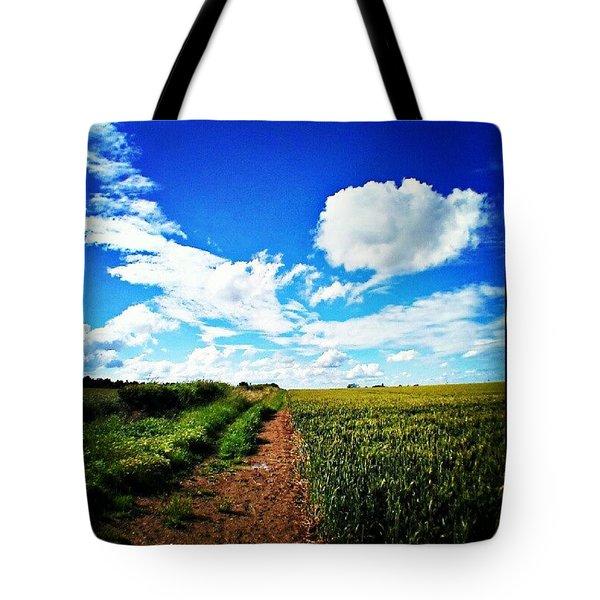 Blue Skies At Last Tote Bag