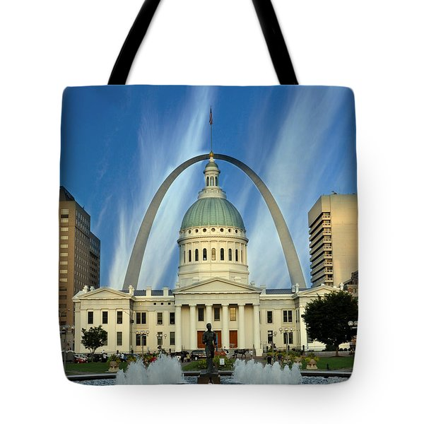 Blue Skies Over St. Louis Tote Bag by Marty Koch