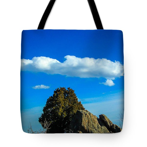 Tote Bag featuring the photograph Blue Skies by Shannon Harrington