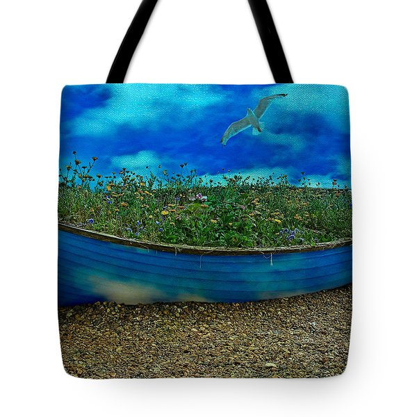 Tote Bag featuring the photograph Blue Sky Boat  by Chris Lord