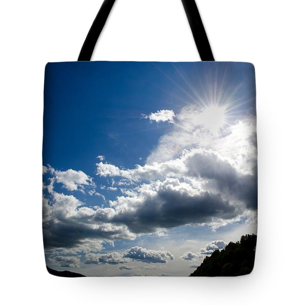 Blue Sky With Clouds Tote Bag by Mats Silvan