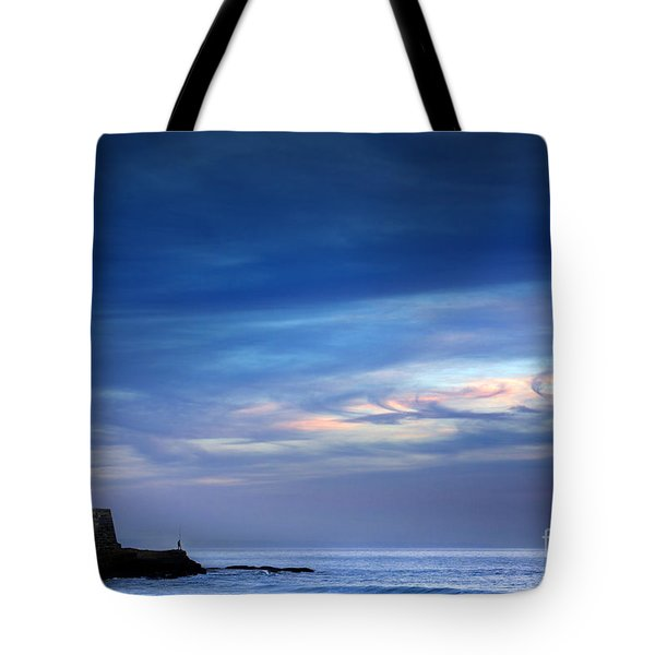 Blue Storm Tote Bag by Carlos Caetano