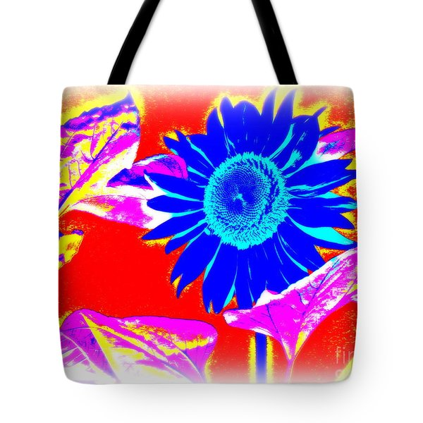 Blue Sunflower Tote Bag by Pauli Hyvonen