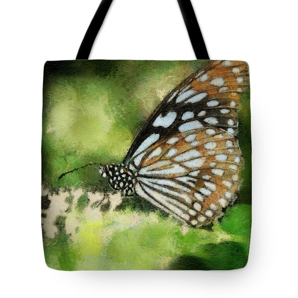 Blue Tiger Tote Bag by Lois Bryan